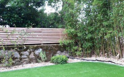 Jardin vert en gazon synthétique – Quartier Zola Nantes